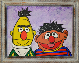 Bert and Ernie's Bedroom Portrait
